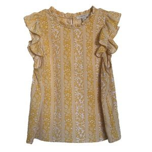(2for20)Forever 21 Cont Floral Yellow Blouse
